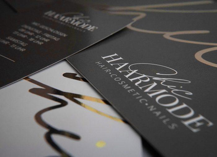 Pernet Design x Chic Haarmode Visitenkarten Gutscheine