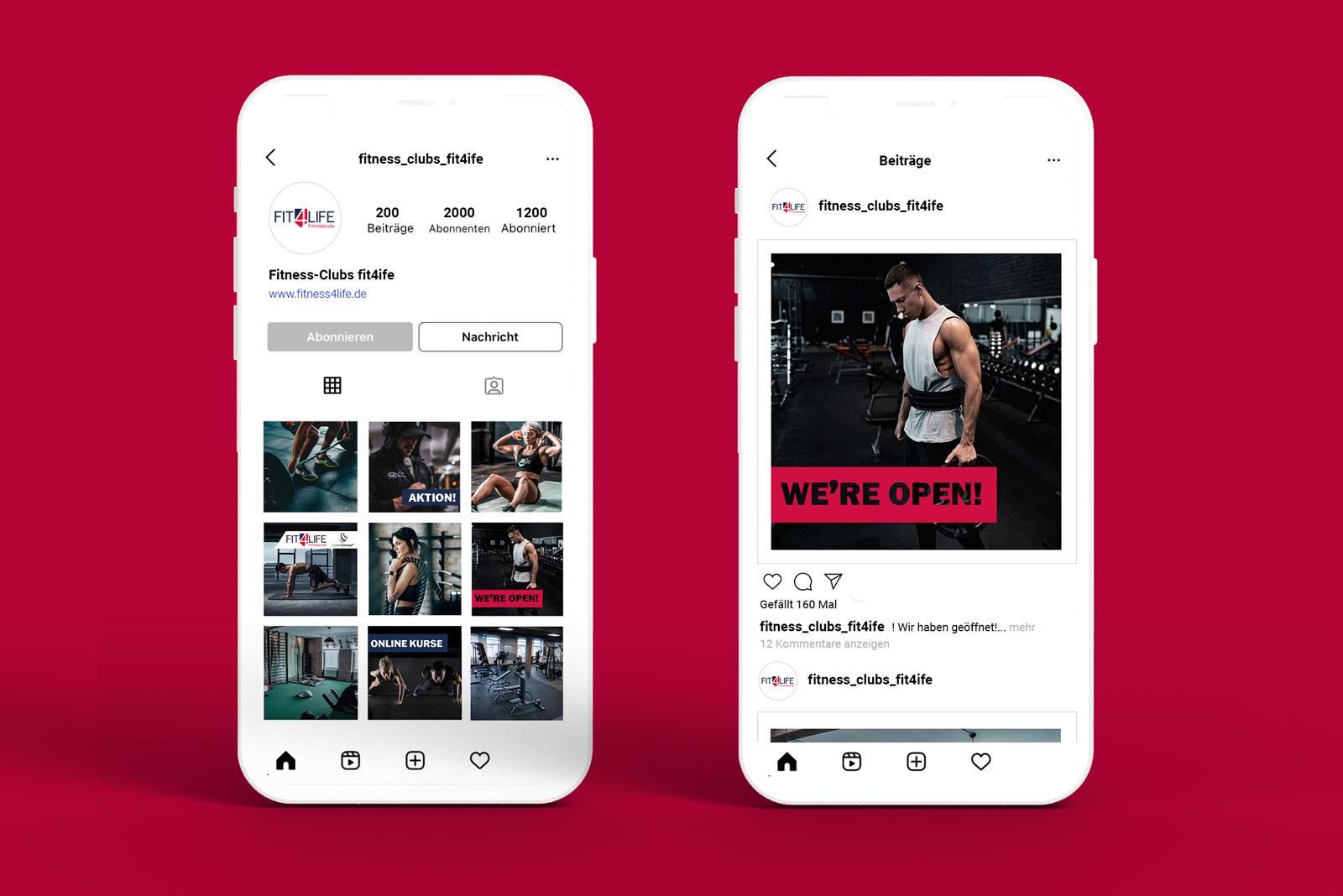 Pernet Design x fit4life Social Media Konzept